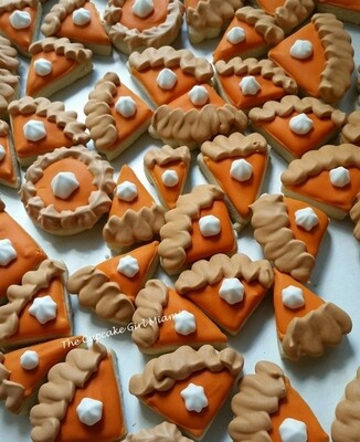 Mini Pumpkin Pie -  Sugar Cookies