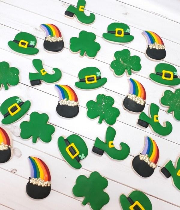 St. Patrick's day Mini Cookies