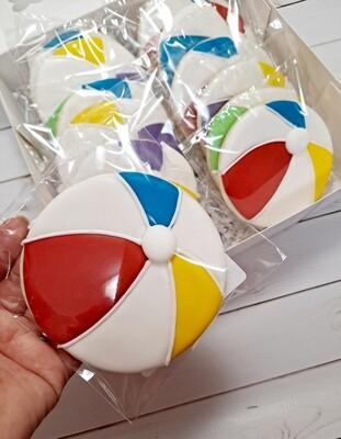 Beach ball Sugar Cookie - Vanilla