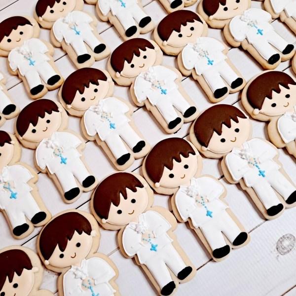 Communion / Baptism Boy Sugar Cookie 1 Dozen