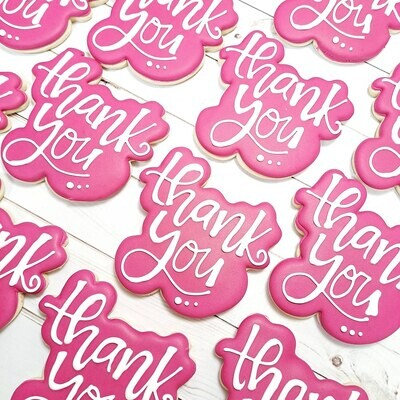 Thank you Sugar Cookie 1 Dozen