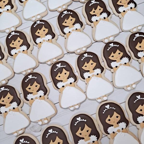 Communion / Baptism Girl Sugar Cookie 1 Dozen