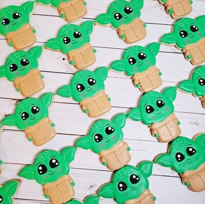 The Child Baby Yoda Sugar Cookie 1 Dozen