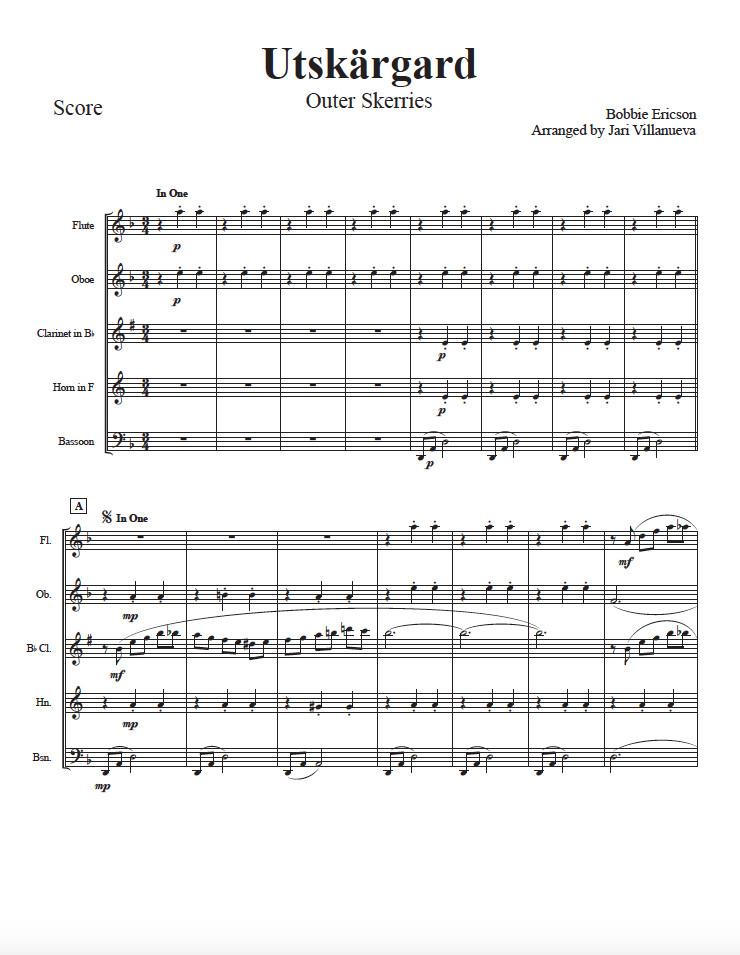 Utskargard for Woodwind Quintet