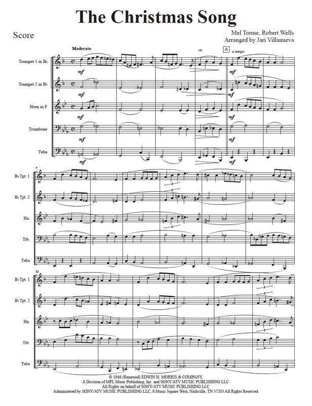 The Christmas Song for Brass Quintet