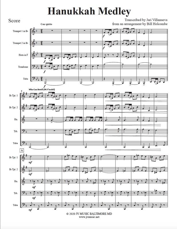 Hanukkah Medley for Brass Quintet