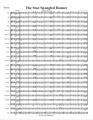 The Star-Spangled Banner in Ab (A Flat) for Mixed Ensemble