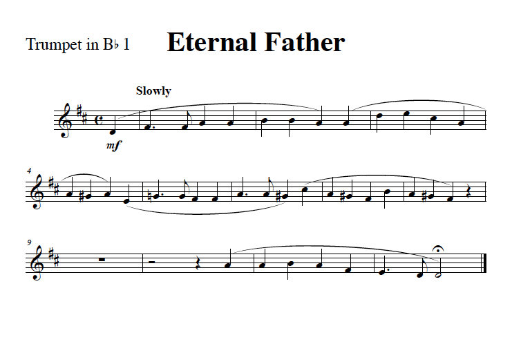 Eternal Father Strong To Save (Navy Hymn) for Brass Quintet