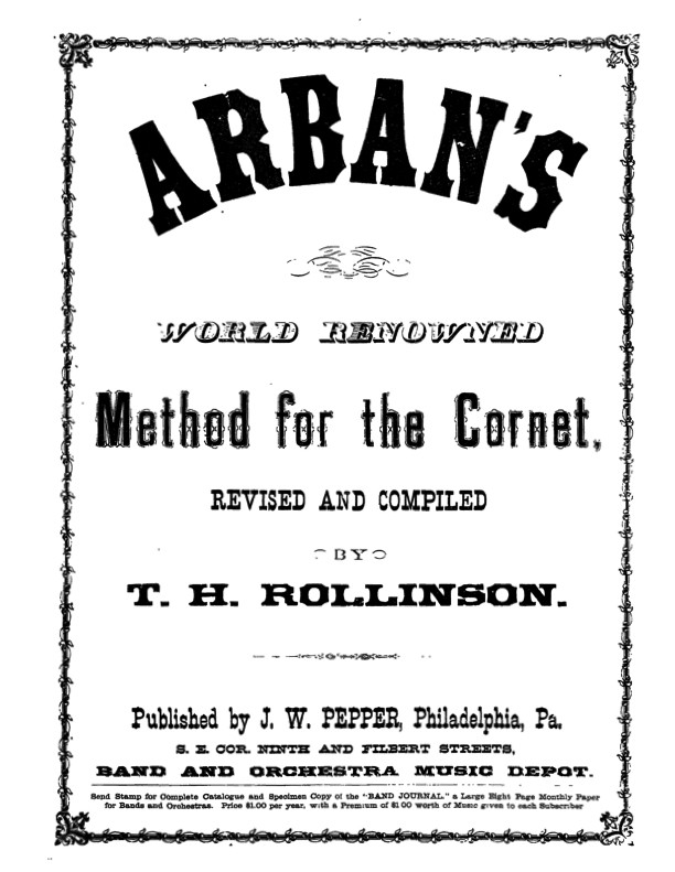 The Art of Phrasing from Arbans 1879 Edition
