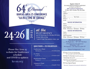 2021 Area 25 Kansas State Conference Pre-Registration
