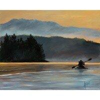 Sunset Kayak -- Lois Haskell