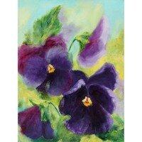 Velvet Pansies -- Hilda Bordianu