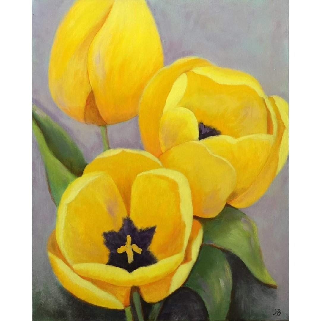 Yellow Tulips -- Hilda Bordianu