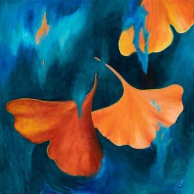 Autumn Gingko Biloba Leaves -- Hilda Bordianu