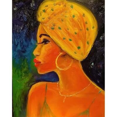Yellow Scarf II -- Leanna Leitzke