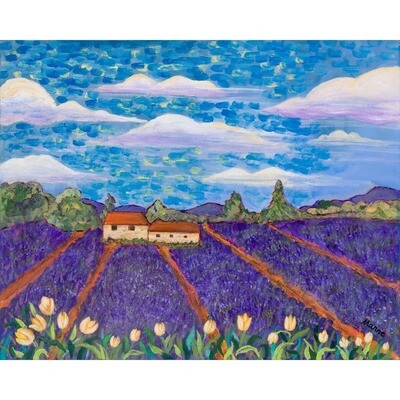 Tulips and Lavender -- Marne Jensen