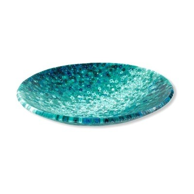 Large Teal Ombre Murrini Bowl -- Joel and Lori Soderberg