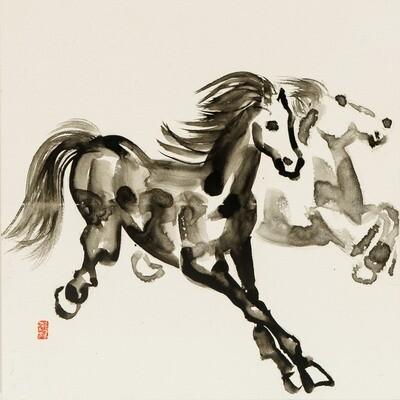 Dancing Horses 2 -- Nam Kim