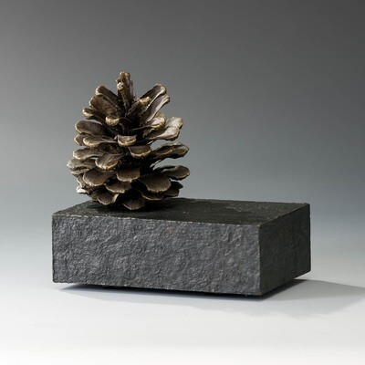 Pinecone on 3x5 Base -- Ed Thayer