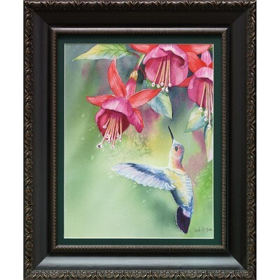 Fuschia and Hummingbird -- Sandi McGuire