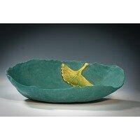 Bowl with Gingko Leaf -- Hilda Bordianu