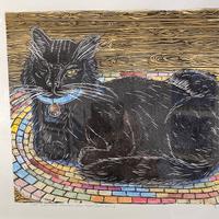 Cat Sleeping Chicken, aka Meatloaf Style -- Sylvia Portillo