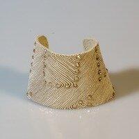 Gold Patterned Cuff -- Ellen Kenny