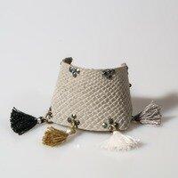 Grey Snakeskin Tassel Cuff -- Ellen Kenny