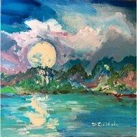 Moonrise Over Kauai Hi -- Forrest Goldade
