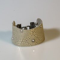 Silver Patterned Cuff -- Ellen Kenny