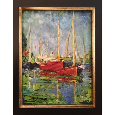 Red Boats, A Day With Monet -- Patricia J Richardson