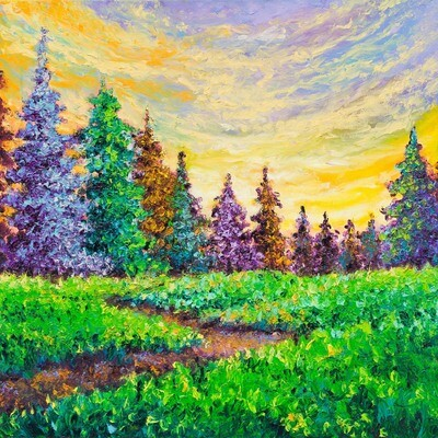 Sunset In The Meadow -- Kimberly Adams