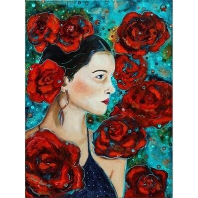 Girl in Roses -- Heidi Barnett