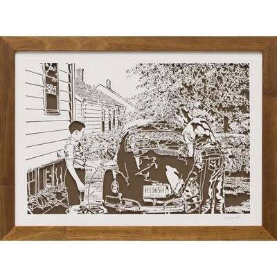 Washing the VW/1968 -- Steve Kennedy