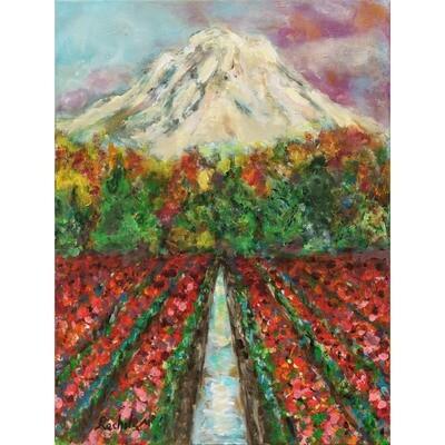 Mount Rainier in Bloom -- Rachel Muller