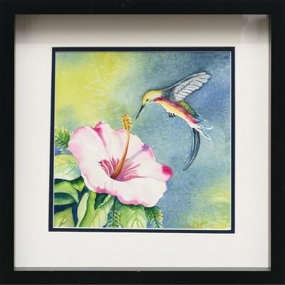 Hibiscus and Hummingbird -- Sandi McGuire
