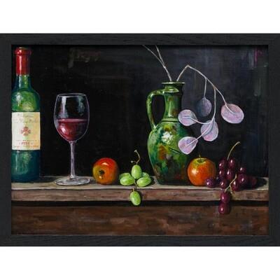 Wine Bottle, Glass, Green Vase -- Malcolm Moses