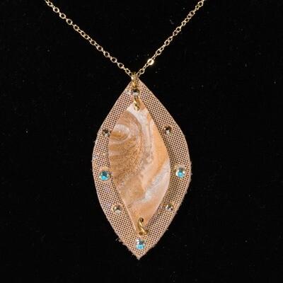 Gold Resin Necklace -- Ellen Kenny