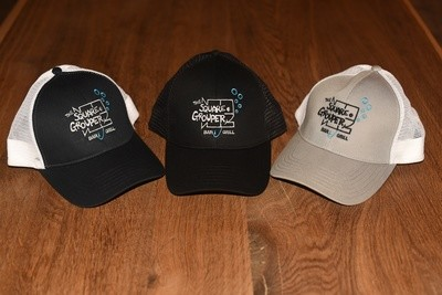 Simms Trucker Hats - Square Grouper Bar and Grill