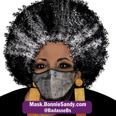 Floral whimsy Face Cover Mask