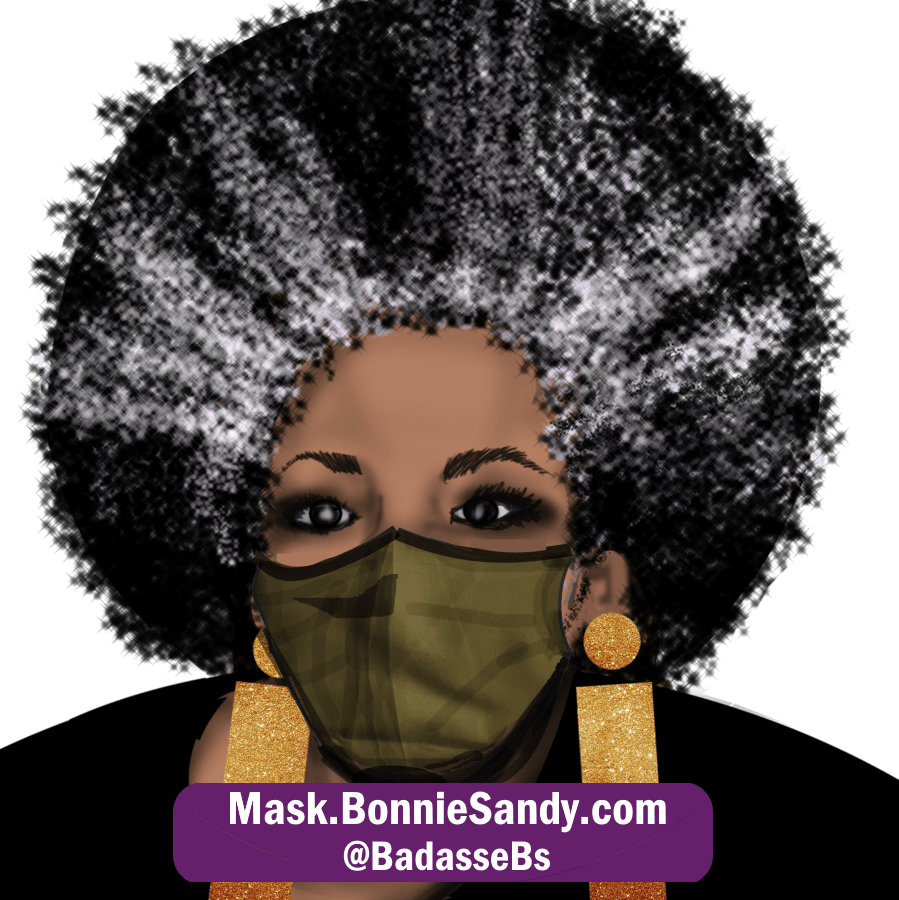 Olive Face Cover Mask