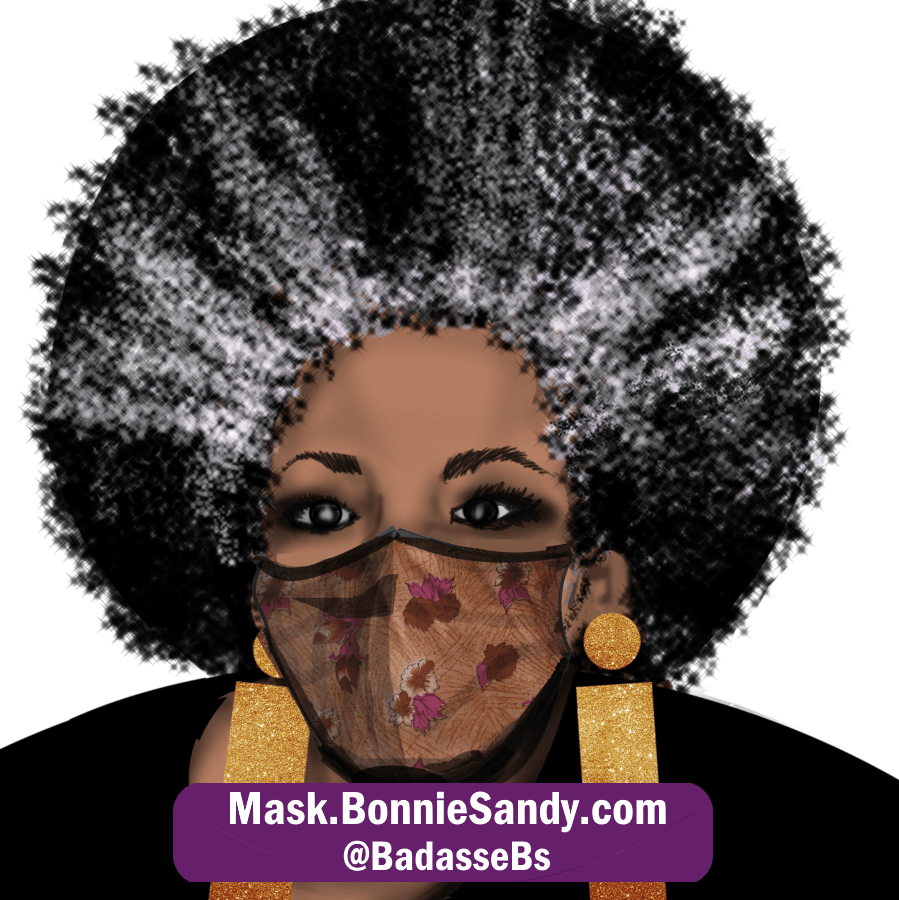Floral Face Cover Mask
