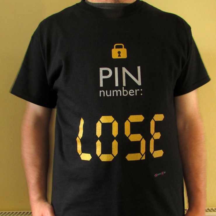 eXcentriX - PIN number T-shirt (right way up)