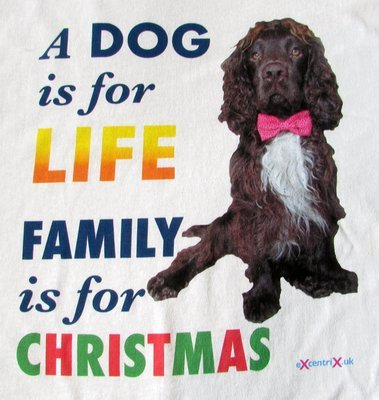 A Dog is for LIFE. Family is for CHRISTMAS T-shirt