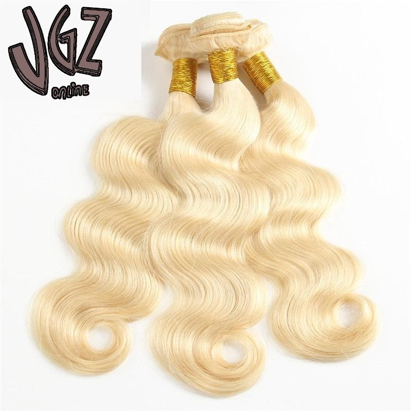 100g Brazilian virgin human hair blonde body wave