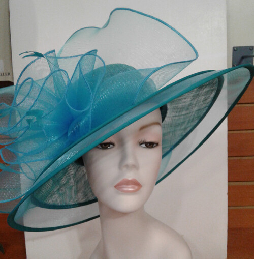 SS/Teal Beauty Hat