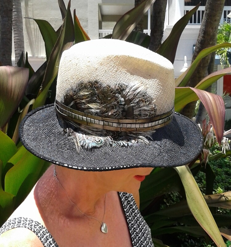 Custom made Fedora with Peacock Feathers