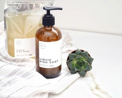 Liquid Dish Soap - Glass Bottle