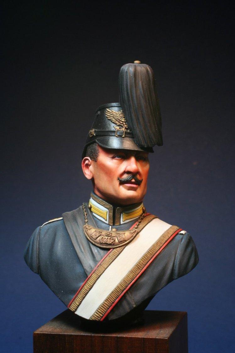 Colour Bearer 1st German Sea Battalion 1896 Painted bust by Derek Hansen