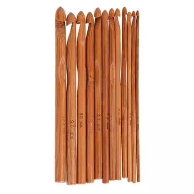Agujas de Crochet en madera de Bambú